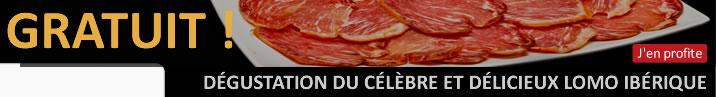 Promo Offre Jambon Pur Bellota Guijuelo et Lomo Iberico Bellota