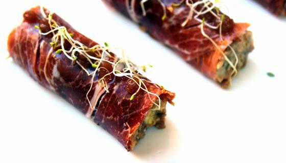 Vista 2 du assiette de rouleau de jambon ibérique
